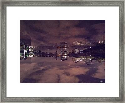 Clouds In The Passaic - Newark Nj Framed Print