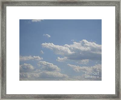Clouds In The Sky One Framed Print by Daniel Henning