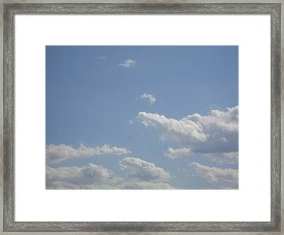 Clouds In The Sky Two Framed Print by Daniel Henning