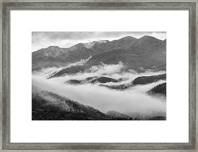 Framed Print featuring the photograph Clouds In Valley, Sa Pa, 2014 by Hitendra SINKAR