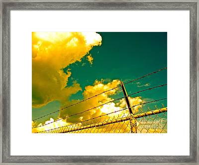 Clouds Like Deer Leaping  Framed Print by Chuck Taylor