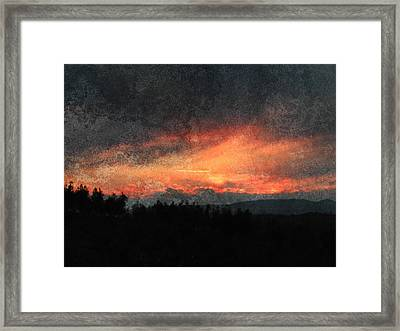 Clouds Like Mountains Framed Print by Dorothy Berry-Lound
