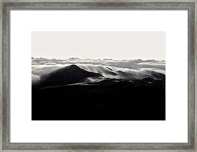 Framed Print featuring the photograph Clouds by Lucian Capellaro