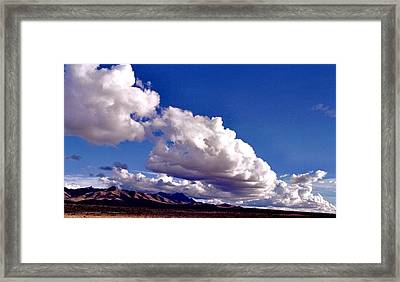 Clouds Marching Framed Print