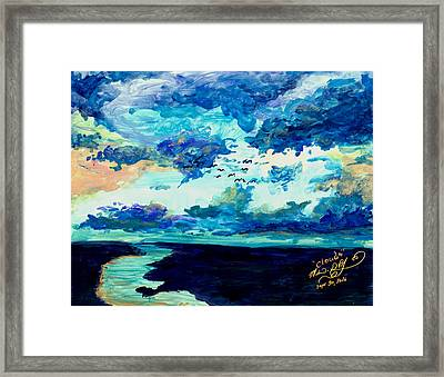 Clouds Framed Print by Melinda Dare Benfield