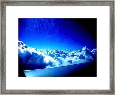 Clouds Framed Print by Michael Grubb