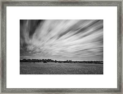 Framed Print featuring the photograph Clouds Moving Over East Texas Field by Todd Aaron