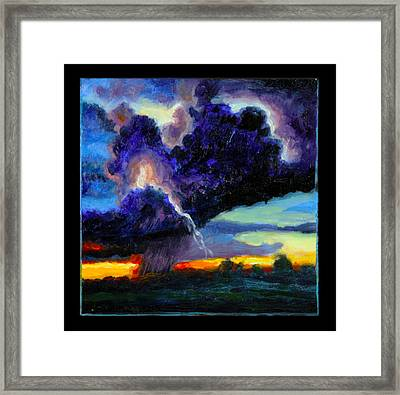 Clouds Number Six Framed Print by John Lautermilch