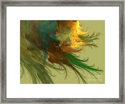 Clouds Of Color Framed Print