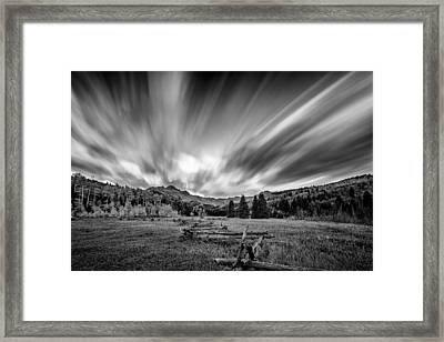 Clouds Of Colorado Framed Print
