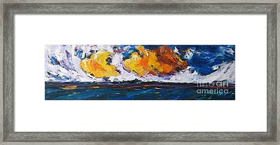 Framed Print featuring the painting Clouds Of Fire by Debora Cardaci