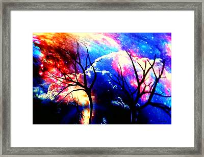 Clouds Of Light God's Work Framed Print by Kathy Kelly
