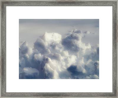 Clouds Of Snow Framed Print
