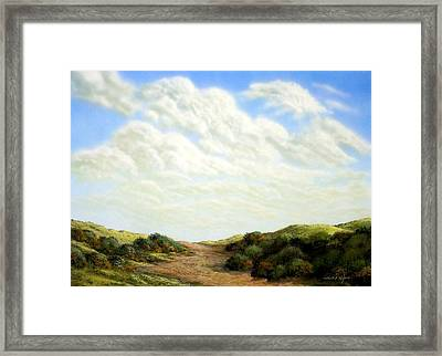 Clouds Of Spring Framed Print by Frank Wilson