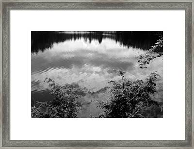 Clouds On Rock Pond Framed Print