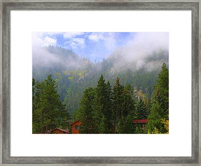 Clouds On The Mountain Framed Print