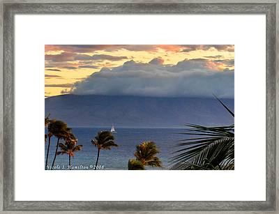Clouds On The Mountain Top Framed Print by Nicole I Hamilton