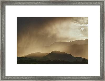 Clouds On The Rocky Mountains Front Range Foothills Framed Print by James BO  Insogna