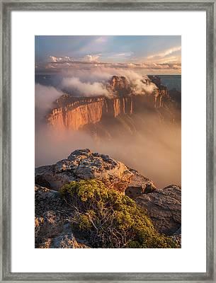 Clouds On Wotans Throne Framed Print by Adam Schallau