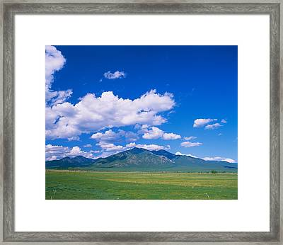 Clouds Over A Mountain Range, Taos Framed Print by Panoramic Images