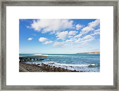 Clouds Over Cape Cornwall Framed Print by Terri Waters
