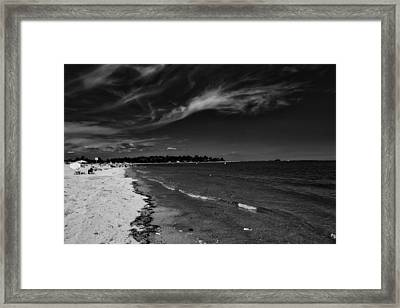 Clouds Over Captain Cove Framed Print by L O C