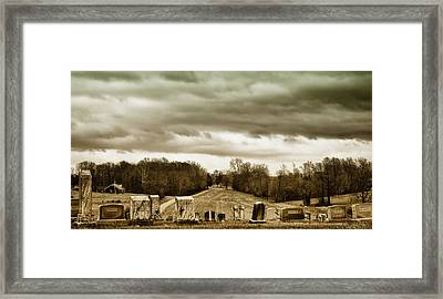 Clouds Over Cemetery Framed Print
