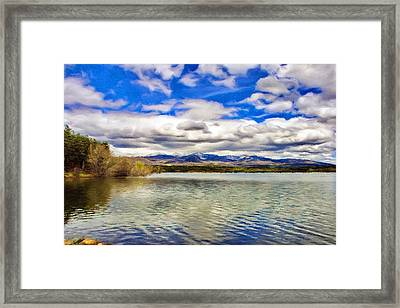 Clouds Over Distant Mountains Framed Print