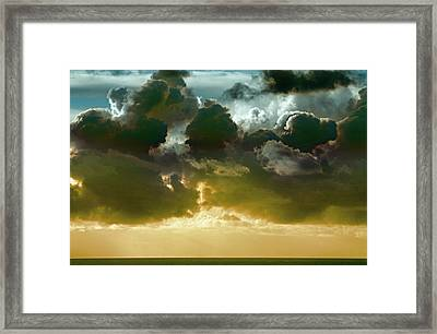 Clouds Over El Pacifico Framed Print by Daniel Furon