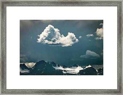 Framed Print featuring the photograph Clouds Over Glacier, Banff Np by William Lee