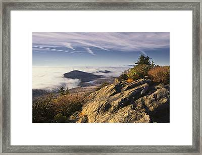 Clouds Over Grandmother Mountain Framed Print