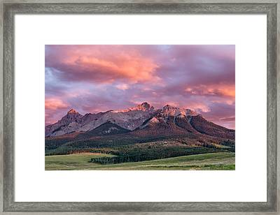Clouds Over Hayden At Sunset Framed Print