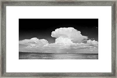 Clouds Over Hutchinson Island Framed Print