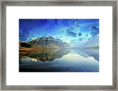 Clouds Over Lake Mcdonald 2 Framed Print by Marty Koch