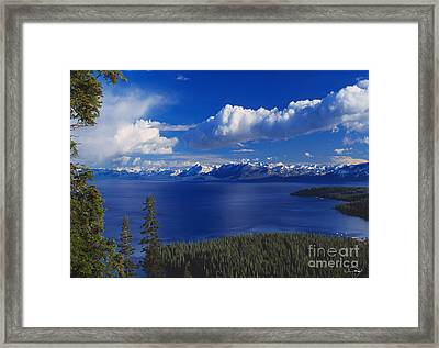 Clouds Over Lake Tahoe Framed Print by Vance Fox