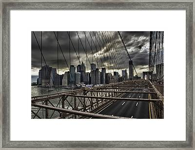 Clouds Over Manhattan Framed Print