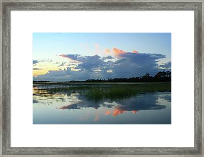 Clouds Over Marsh Framed Print