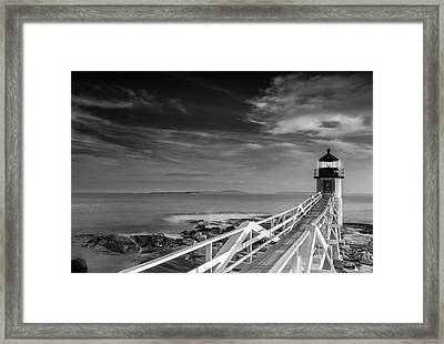 Framed Print featuring the photograph Clouds Over Marshall Point Lighthouse In Maine by Ranjay Mitra