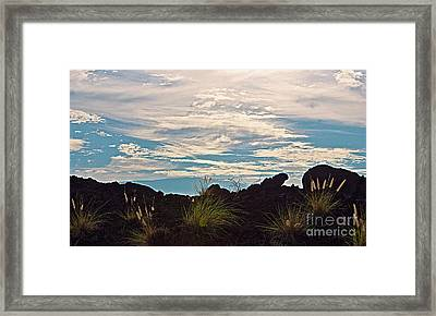 Clouds Over Mauna Kea Framed Print