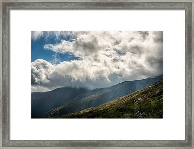 Clouds Over Mount Washington 7592 Framed Print
