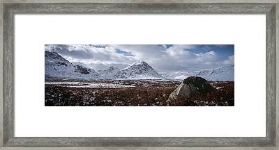 Clouds Over Mountains, Glencoe, Scotland Framed Print by Panoramic Images