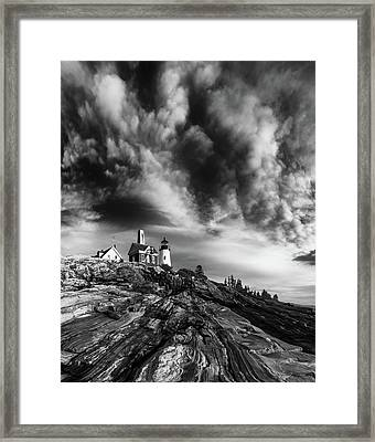 Clouds Over Pemaquid Lighthouse Framed Print by Darren White