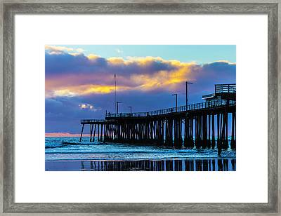 Clouds Over Pismo Pier Framed Print