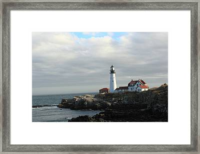 Clouds Over Portland Head Lighthouse 2 Framed Print