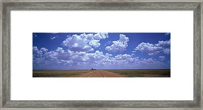 Clouds Over Prairie Amarillo Tx Framed Print by Panoramic Images