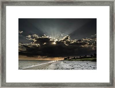 Clouds Over Sanibel Island Florida Framed Print