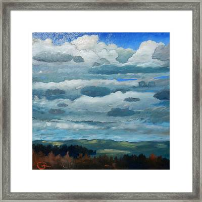 Framed Print featuring the painting Clouds Over South Bay by Gary Coleman
