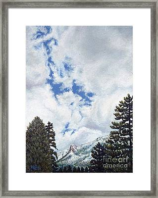 Clouds Over Tahquitz Framed Print