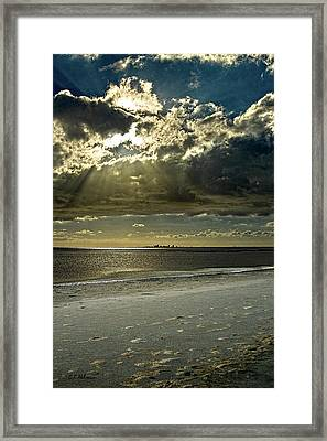 Clouds Over The Bay Framed Print by Christopher Holmes