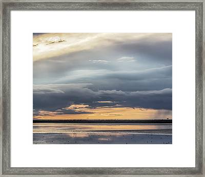 Clouds Over The Bottoms Framed Print